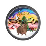XmasMusic#2-GuineaPig#3 Wall Clock