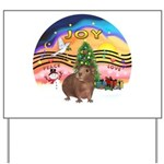 XmasMusic#2-GuineaPig#3 Yard Sign