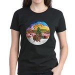XmasMusic#2-GuineaPig#3 Women's Dark T-Shirt