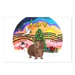 XmasMusic#2-GuineaPig#3 Postcards (Package of 8)