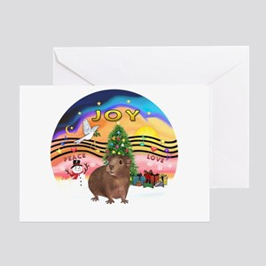 XmasMusic#2-GuineaPig#3 Greeting Card