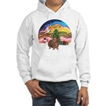 XmasMusic#2-GuineaPig#3 Hooded Sweatshirt