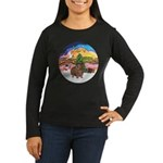 XmasMusic#2-GuineaPig#3 Women's Long Sleeve Dark T