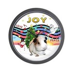 XmasMusic1-GuineaPig #1 Wall Clock