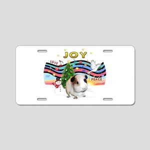 XmasMusic1-GuineaPig #1 Aluminum License Plate