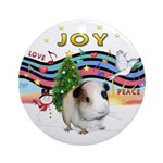 XmasMusic1-GuineaPig #1 Ornament (Round)