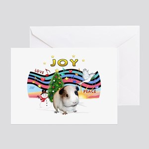 XmasMusic1-GuineaPig #1 Greeting Card