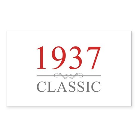 1937 Classic Sticker (Rectangle)