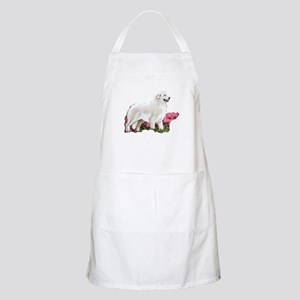 great pyrenees in the garden Apron