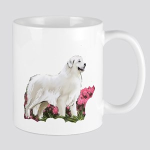 great pyrenees in the garden Mug