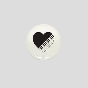 Piano Heart Mini Button