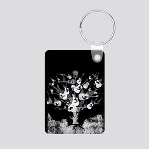 Acoustic Guitar Tree Aluminum Photo Keychain