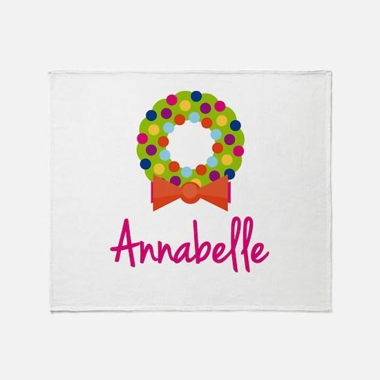 Christmas Wreath Annabelle Throw Blanket
