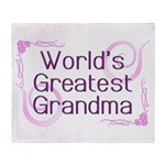 World's Greatest Grandma Throw Blanket