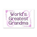 World's Greatest Grandma Car Magnet 20 x 12