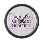 World's Greatest Grandma Large Wall Clock