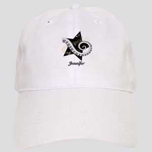 Music star gold black Cap