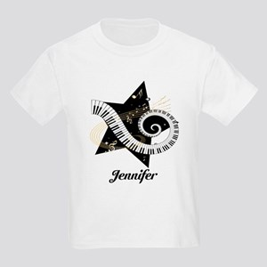 Music star gold black Kids Light T-Shirt