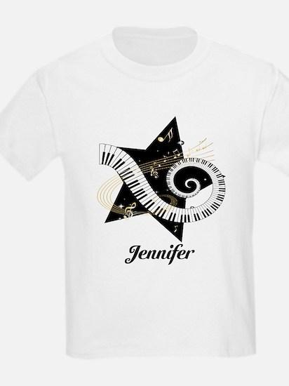Music star gold black T-Shirt