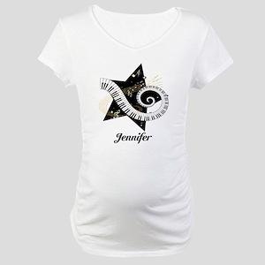 Music star gold black Maternity T-Shirt