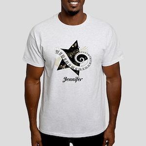 Music star gold black Light T-Shirt