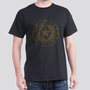 Republic of Texas Seal Distre Dark T-Shirt