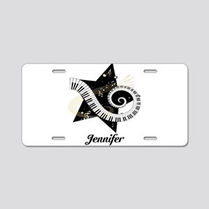 Music star gold black Aluminum License Plate
