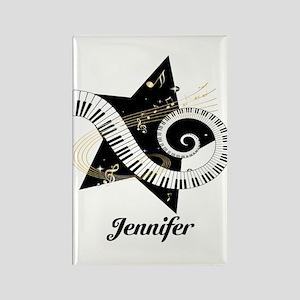 Music star gold black Rectangle Magnet