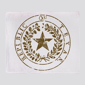 Republic of Texas Seal Distre Throw Blanket