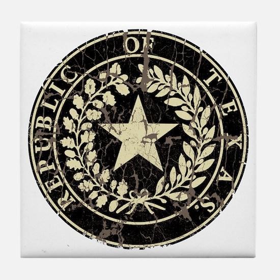 Republic of Texas Seal Distre Tile Coaster