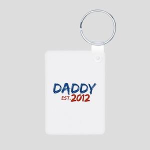 Daddy Est 2012 Aluminum Photo Keychain