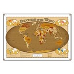 World Countries Local Names Banner Map
