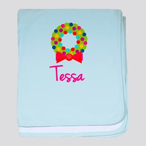 Christmas Wreath Tessa baby blanket