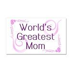 World's Greatest Mom Car Magnet 20 x 12