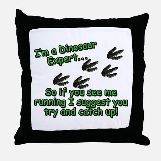 Cute Paleontologist Throw Pillow