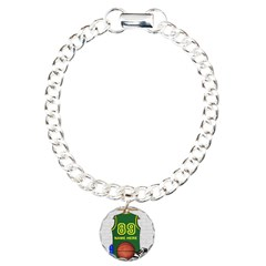 Personalized Basketball Green Bracelet