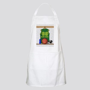 Personalized Basketball Green Apron