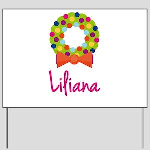 Christmas Wreath Liliana Yard Sign