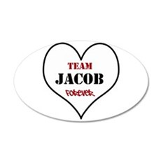 Team Jacob 22x14 Oval Wall Peel
