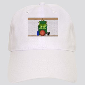 Personalized Basketball Green Cap