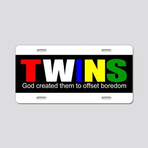Twins offset boredom Aluminum License Plate