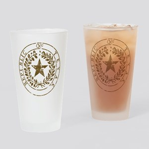 Republic of Texas Seal Distre Drinking Glass
