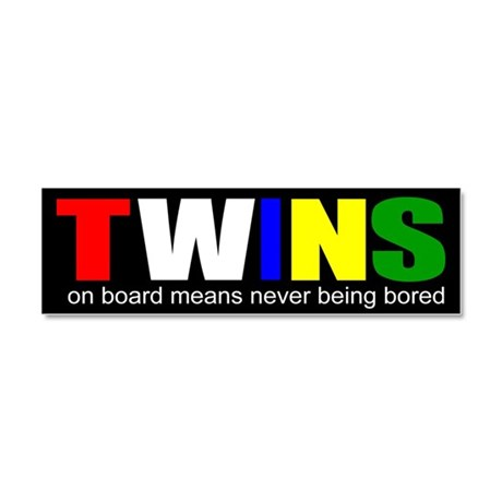 Twins on board Car Magnet 10 x 3