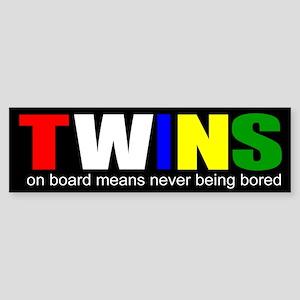 Twins on board Sticker (Bumper)