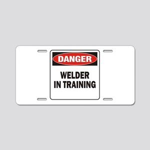 Welder Aluminum License Plate