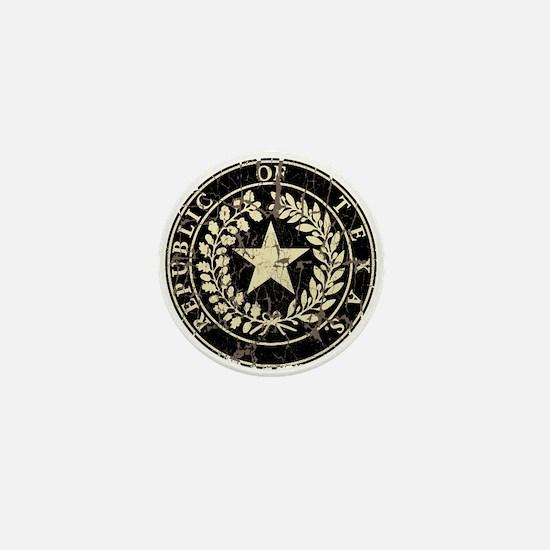 Republic of Texas Seal Distre Mini Button