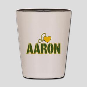 I love Aaron Shot Glass