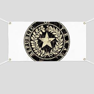 Republic of Texas Seal Distre Banner