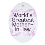 World's Greatest Mother-in-Law Ornament (Oval)