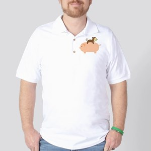 Baby Monkey Riding Backwards Golf Shirt